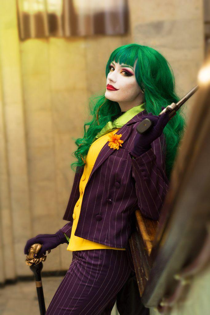 Female Joker Cosplay Make Up Joker Kostum Kostum Halloween