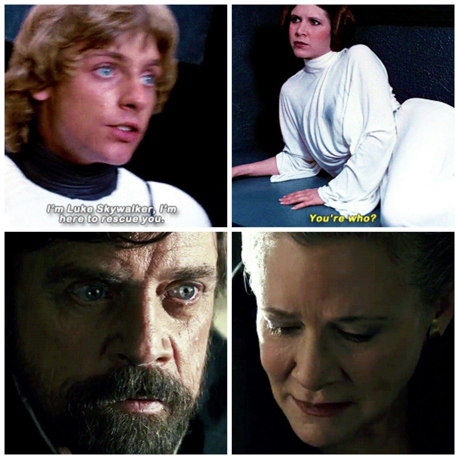 A New Hope The Last Jedi The Skywalker Twins Star Wars Humor Star Wars Memes Star Wars Universe