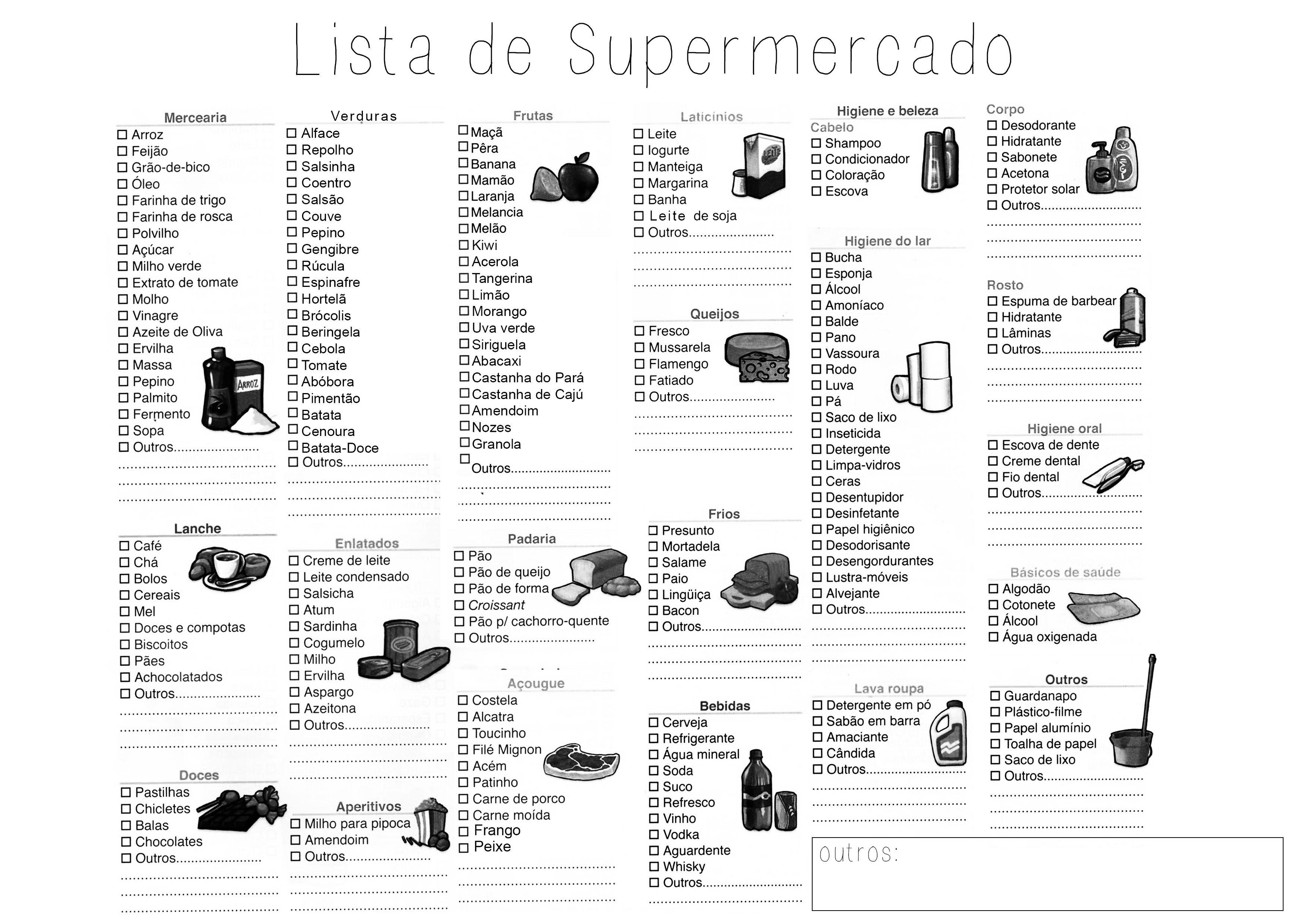 Lista Checklist De Supermercado Pra Deixar A Vida Mais Facil