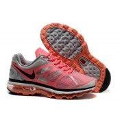 Nike Air Max 2012 Dames Loopschoen Wit/Hete Punch Zuiver Platina Antraciet