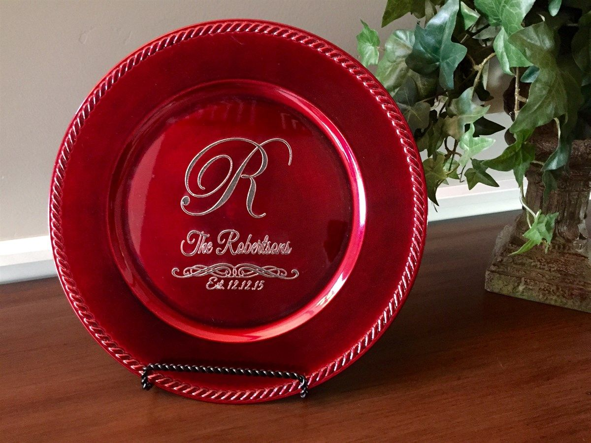 Personalized Decorative Plates - 2 Beautiful Designs! | Jane & Personalized Decorative Plates - 2 Beautiful Designs | Silhouettes ...