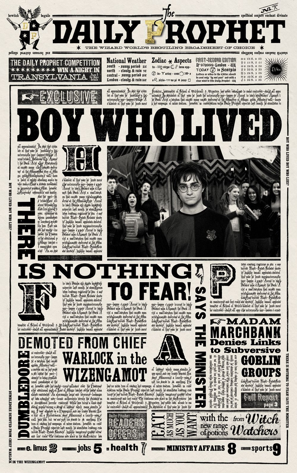 image relating to Daily Prophet Printable named Harry Potter Day-to-day Prophet Printable Everyday prophet