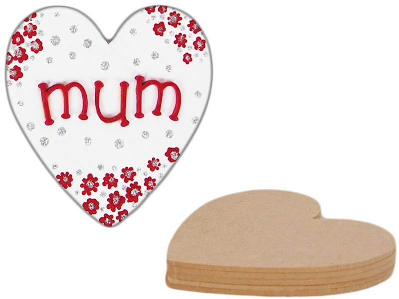 Paint Your Own Mum Mom Mother Wooden Heart Supplied In Mdf Wood