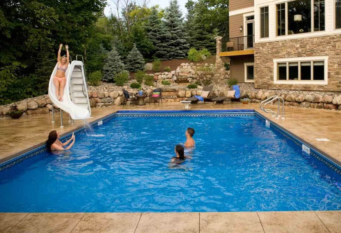Backyard Swimming Pools With Slidessouthview Design Outdoor Living Swimming  Pool Faqs Dicko