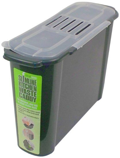 bosmere slim kitchen recycled plastic compost caddy best compost kitchen counter top bin for sale