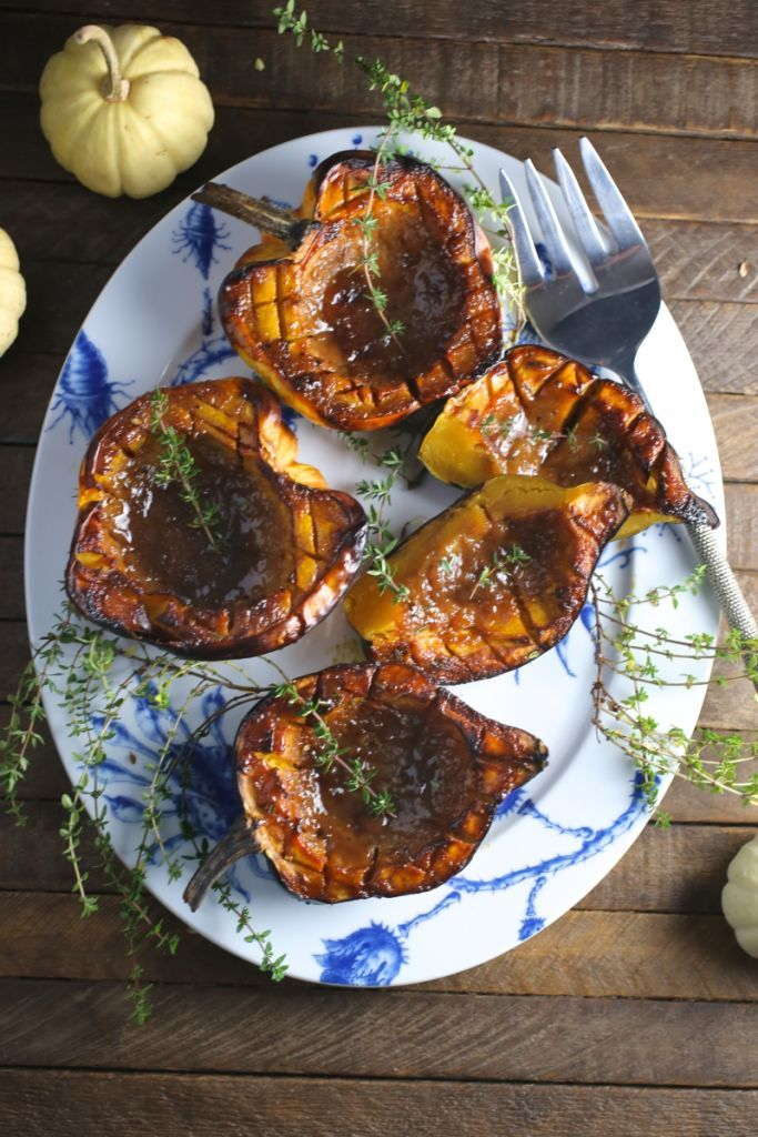 Brown Sugar And Mustard Glazed Acorn Squash Recipe With Images