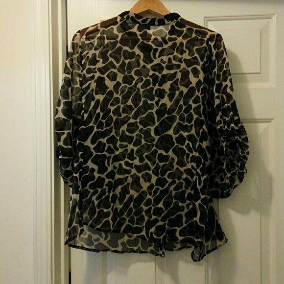 Chiffon blouse Animal print Chiffon blouse Dots Tops Blouses