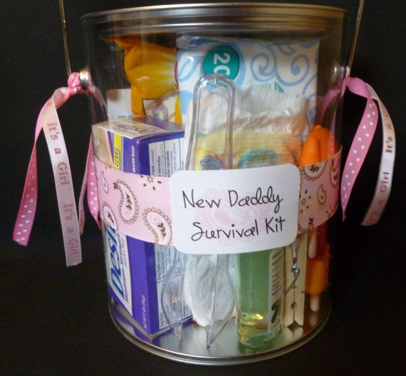 Pink Paisley New Daddy Survival Kit By Halfpintrepublic On