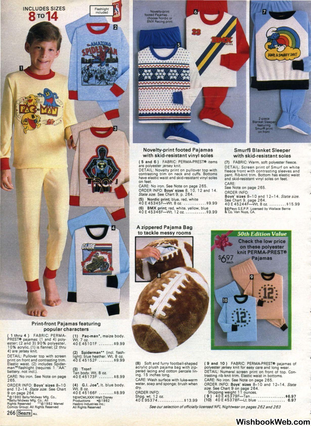 584b454b0 Sears catalog pacman tron pajamas Pajamas