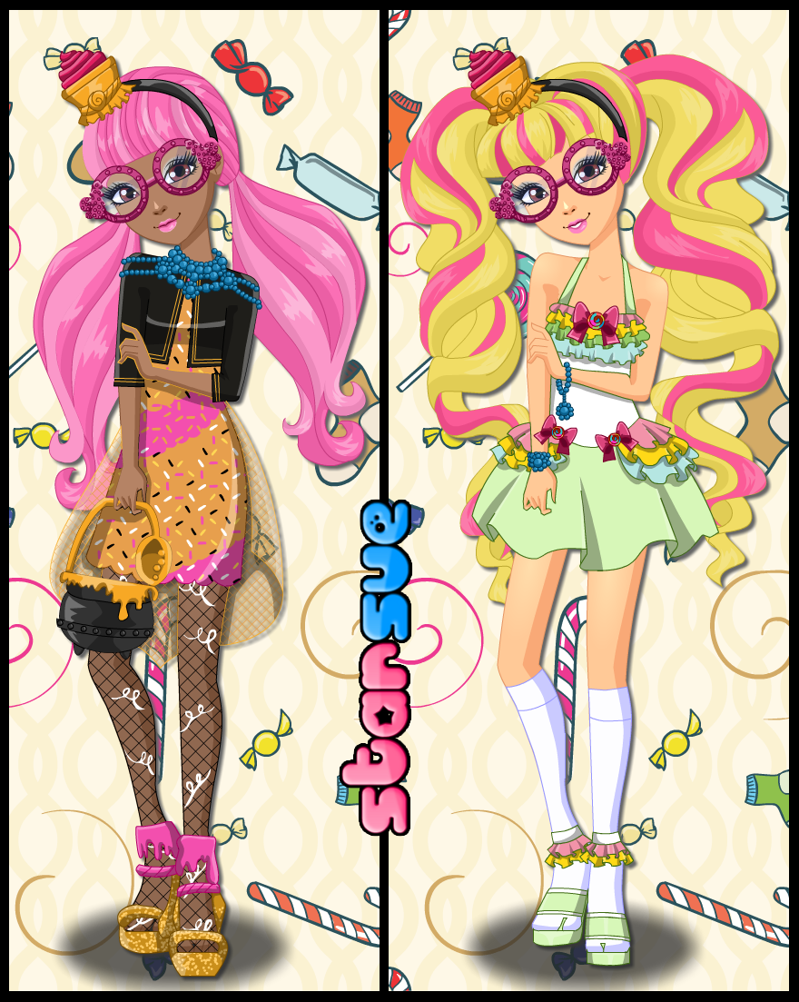 Ever After High Core Rebel Ginger Breadhouse Dress Up Game