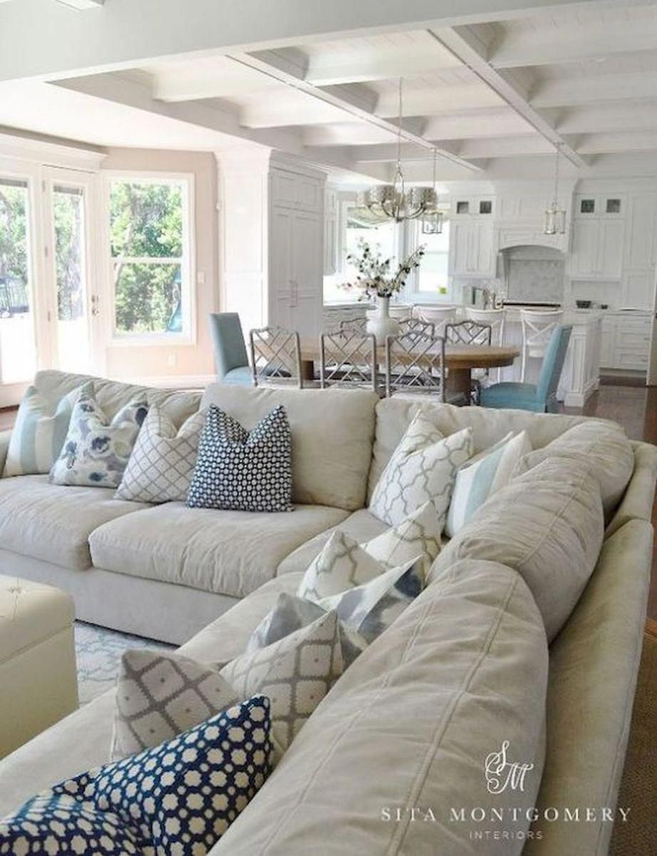 70 Cool and Clean Coastal Living Room Decorating Ideas (47)  Interesting ceiling idea. #livingroomdecorideas