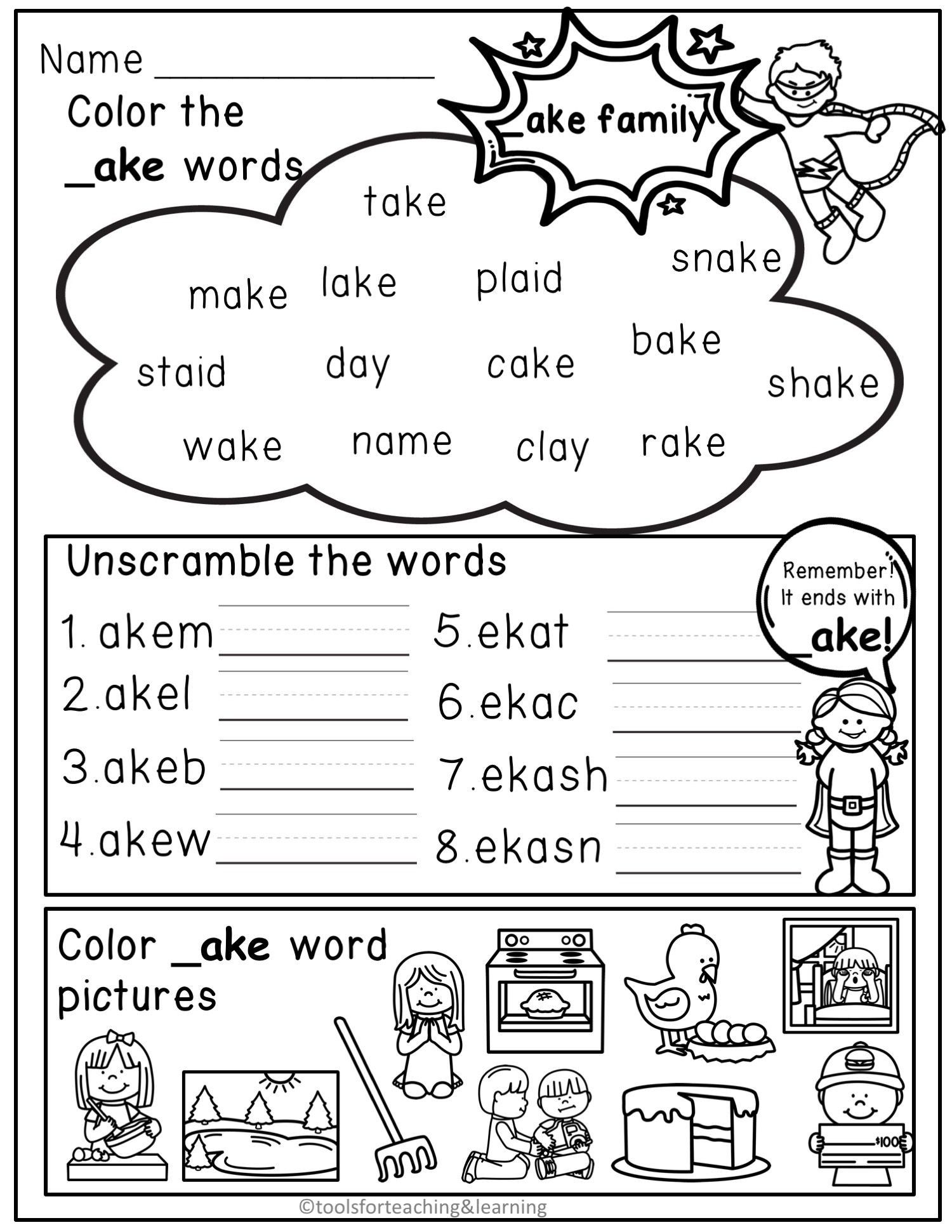 4 Worksheet Word Families Can Long Vowels Word Families Worksheets Word Family Worksheets Word Families Kindergarten Word Families Worksheets [ 1941 x 1500 Pixel ]