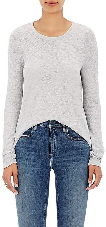 Womens Distressed Cotton-Blend Long-Sleeve T-Shirt ATM Anthony Thomas Melillo Manchester Sale Best Place cfeqXf
