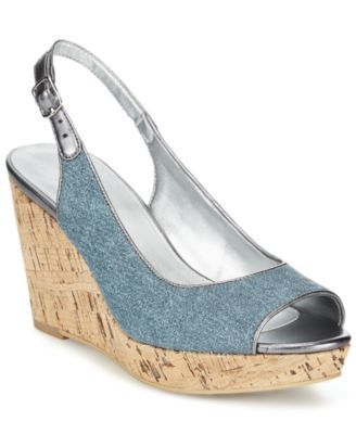 e56c8ffd839b99 Bandolino Avito Slingback Platform Wedge Sandals