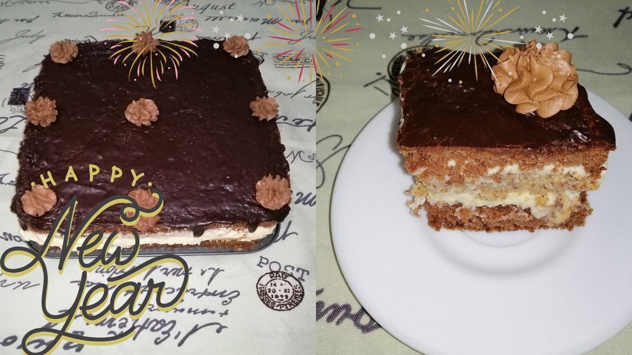 Chocolate Almond Layer Cake Recipe Happy New Year 2020 كعكة الطبقات بالشوكولاتة و اللوز Chocolate Almonds Layer Cake Recipes Food