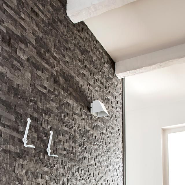 Carrelage mural briquette anthracite 33 x 50 cm - CASTORAMA Home - pose carrelage mural salle de bain