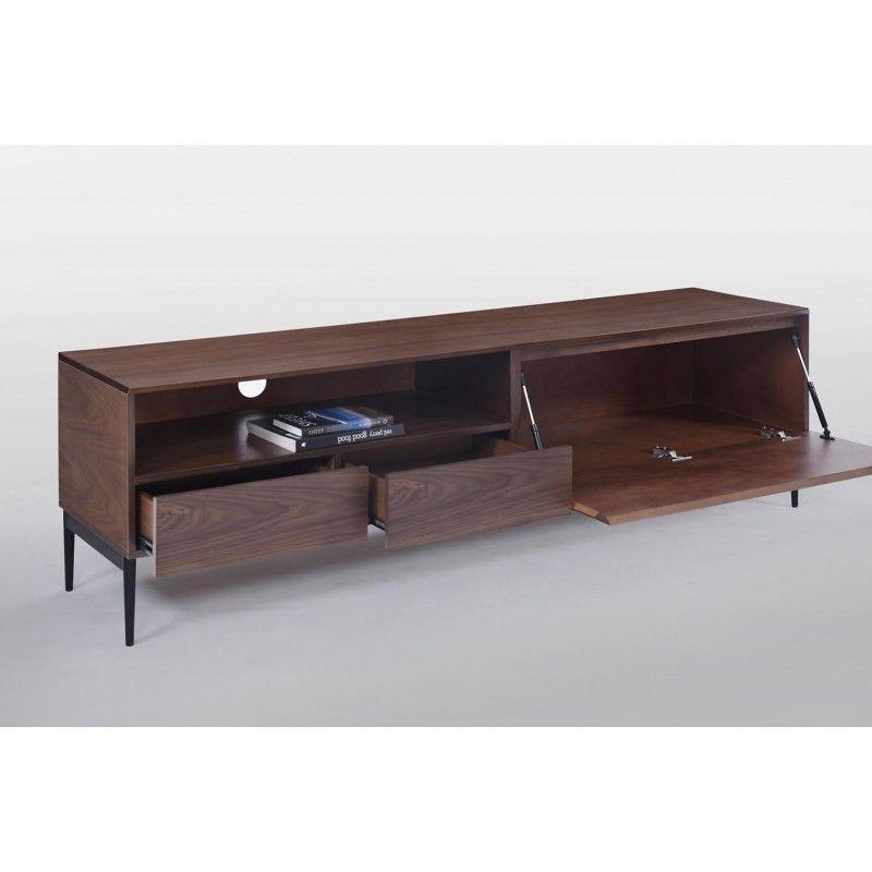 Dotés de multiples rangements, le meuble TV bas CORREZE est composé