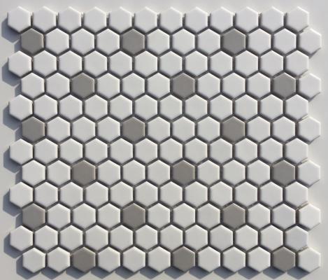 View Full Size Image Porcelain Mosaic Tile Mosaic Tiles Hexagon Tiles