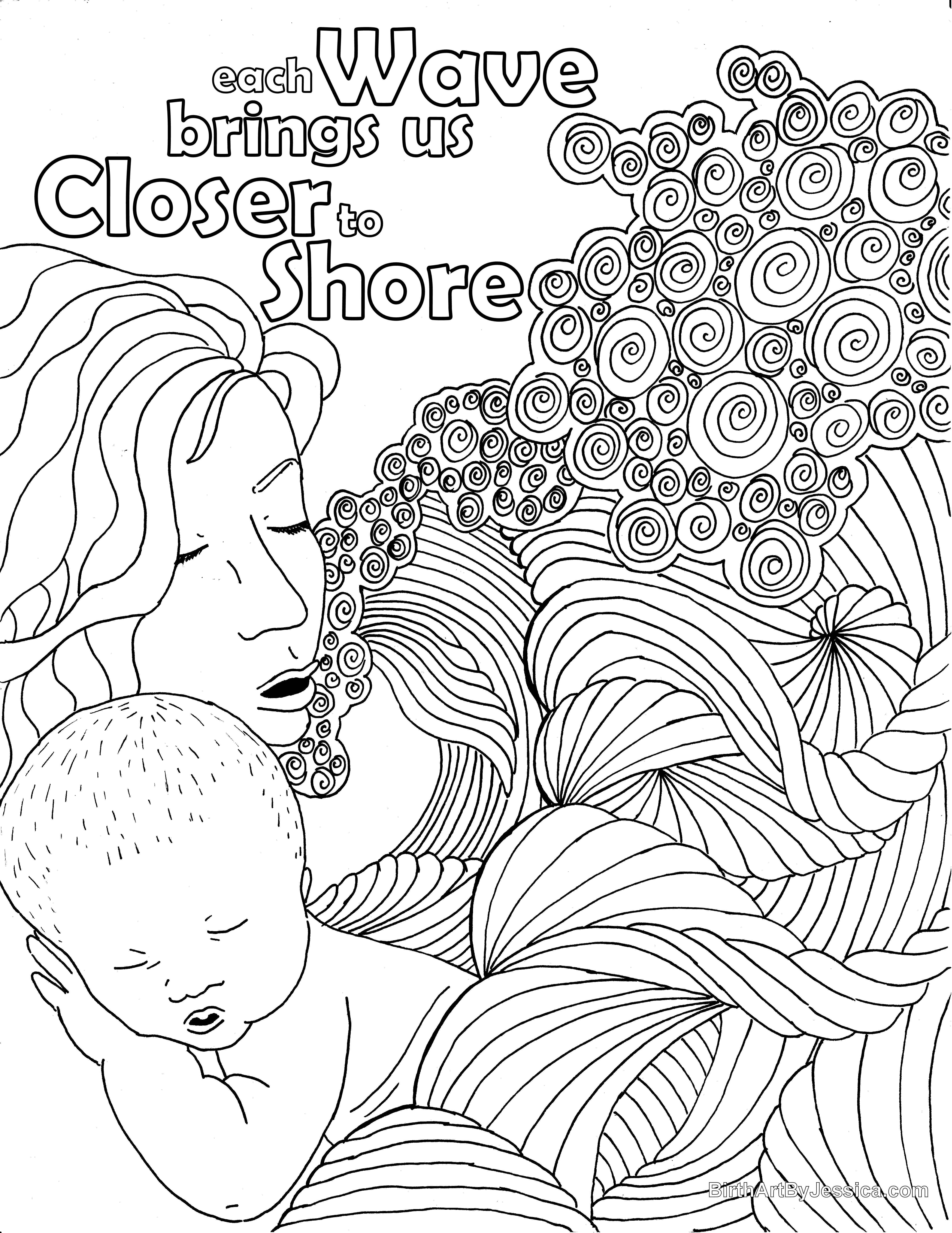 Pin On Birth Pregnancy Coloring Pages