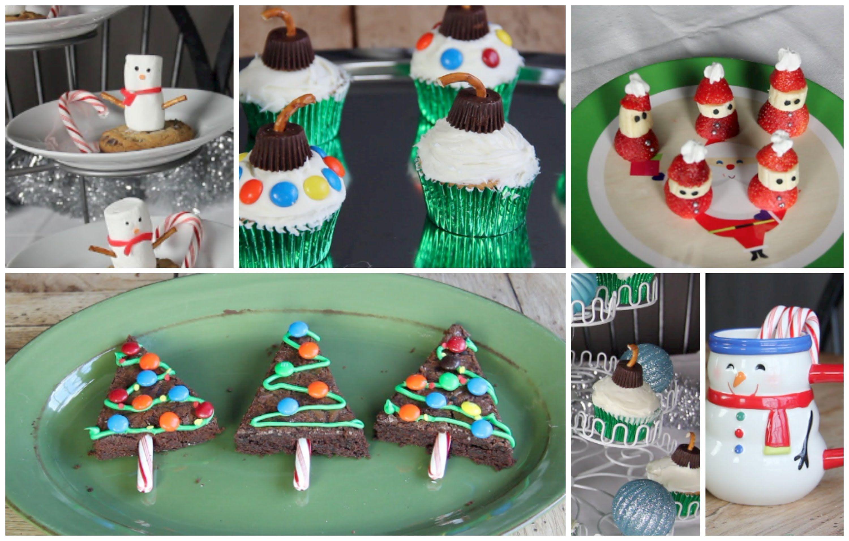 Easy DIY Holiday Treats!! (Christmas tree brownies, Strawberry Santa's &...@esmiee11  look the brownie Christmas trees too cute!
