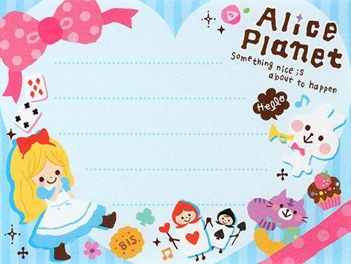 memo - Kamio Fairy Tale World - Alice in Wonderland