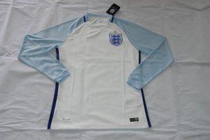 size 40 bd8bc 0c8fd 2016 EURO ENGLAND Soccer Team LS HOME Replica Jersey [E978 ...