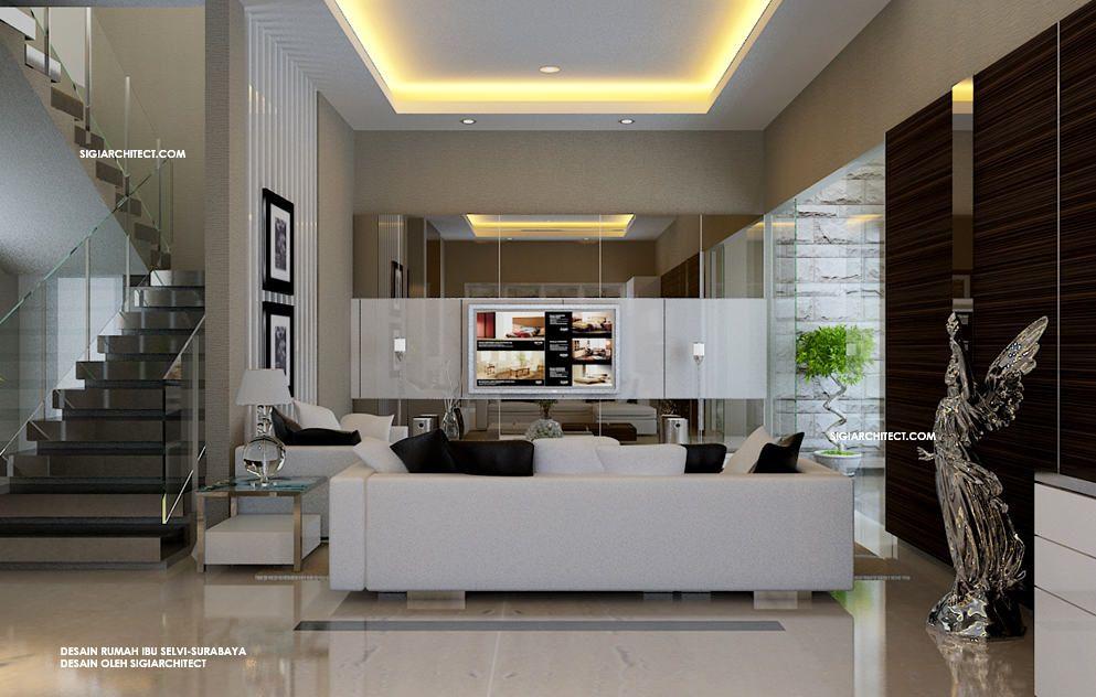 Desain Foyer Minimalis : Rumah minimalis tropis interior fasad
