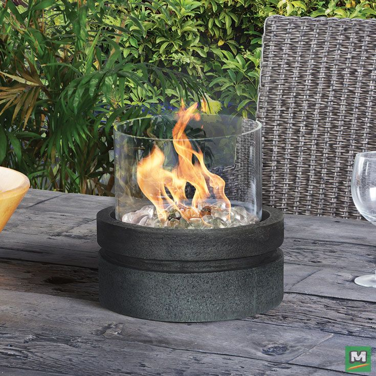 Warm Up Your Outdoor Dining Area With A Backyard Creations Potrero Tabletop Fire Bowl For Your Conv Tabletop Fire Bowl Backyard Creations Outdoor Dining Area