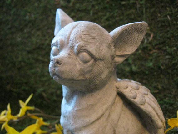 Dog Statue Pet Memorial Dog Accessories Dog Memorial Stone Chihuahua Statue