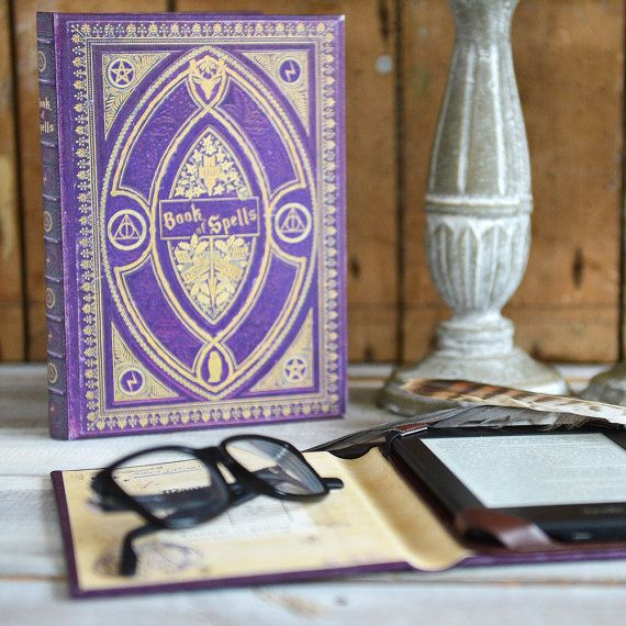 Harry Potter Themed Kindle Case Book Of Spells Harry Potter Kindle Kindle Cover Harry Potter More