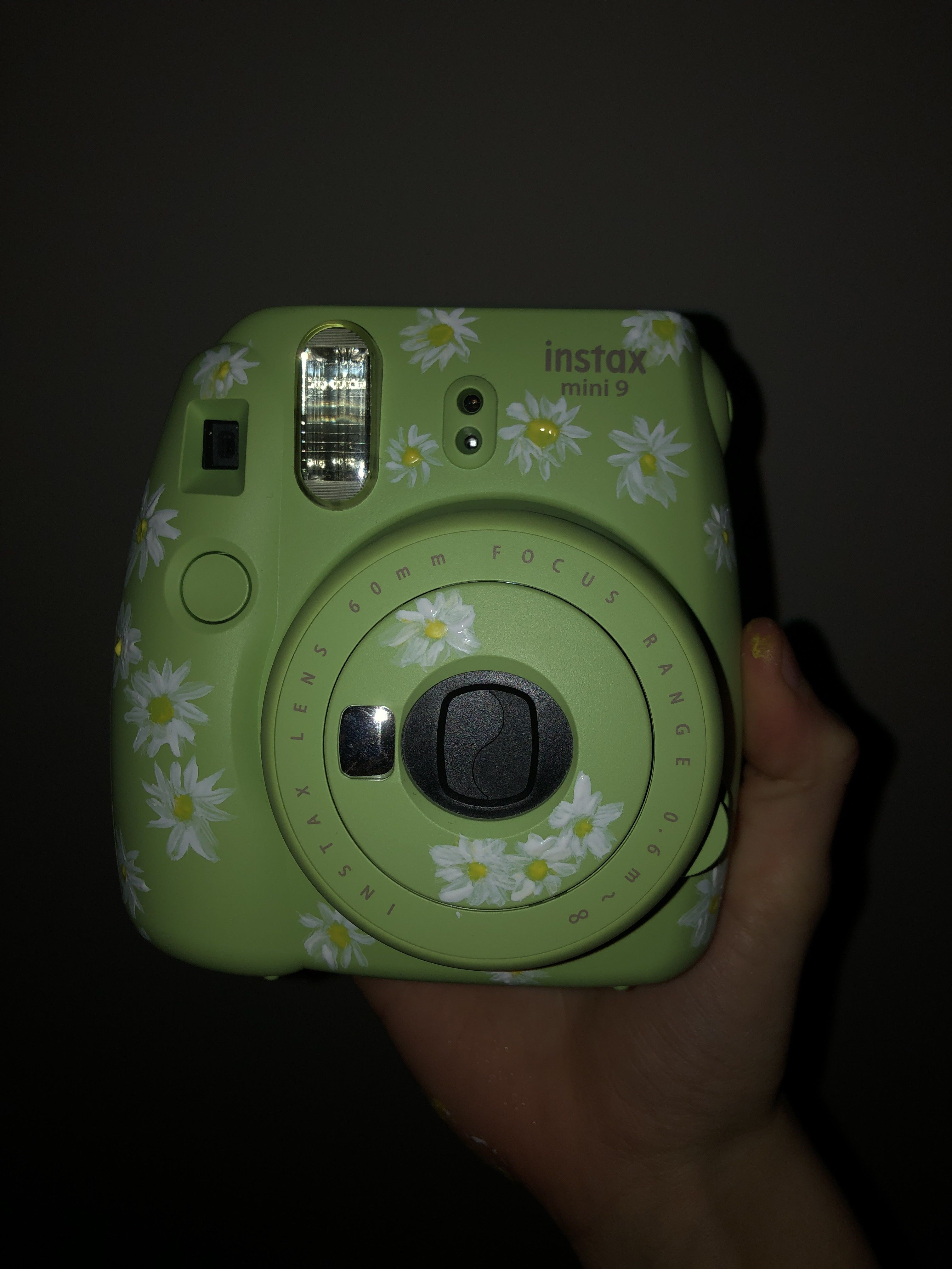 Painted Polaroid Camera Camera Painting Instax Mini Camera