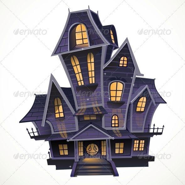 Happy Halloween Cozy Haunted House Halloween Haunted Houses Cartoon House Halloween Cartoons