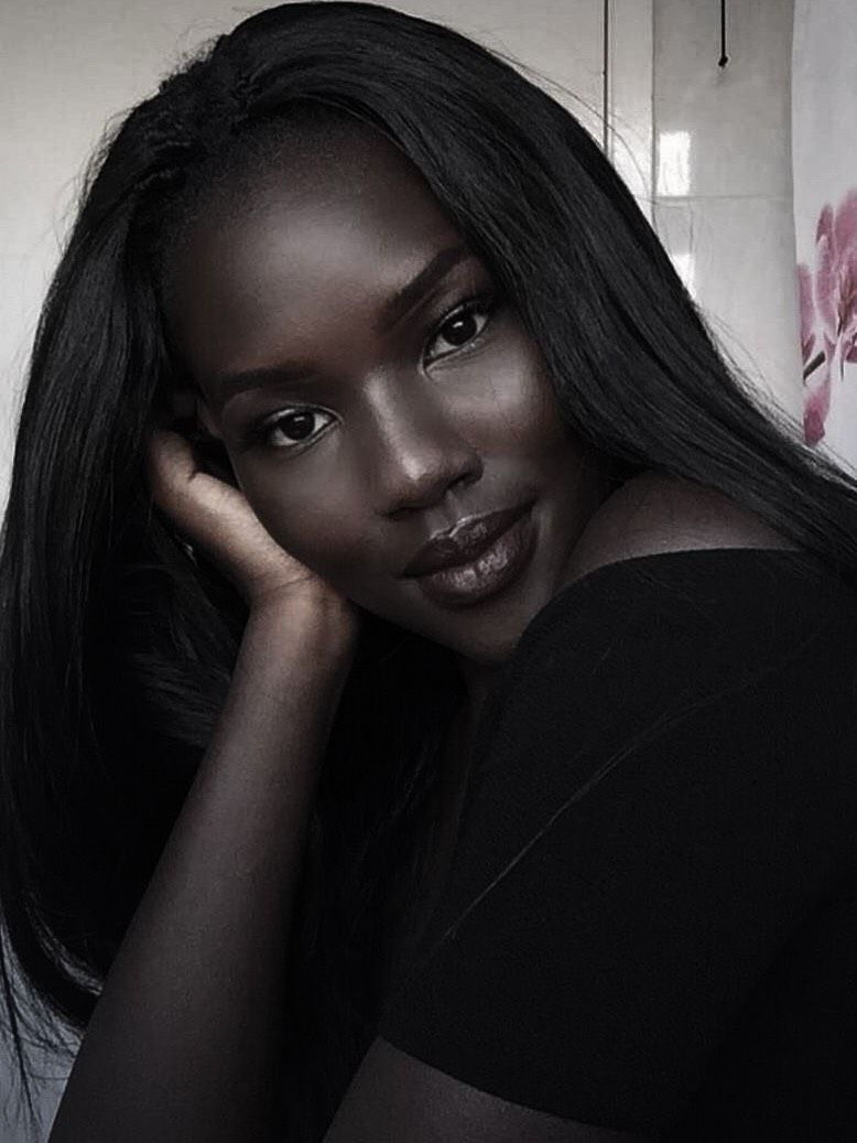 Beautiful dark skinned woman. #darkskingirls