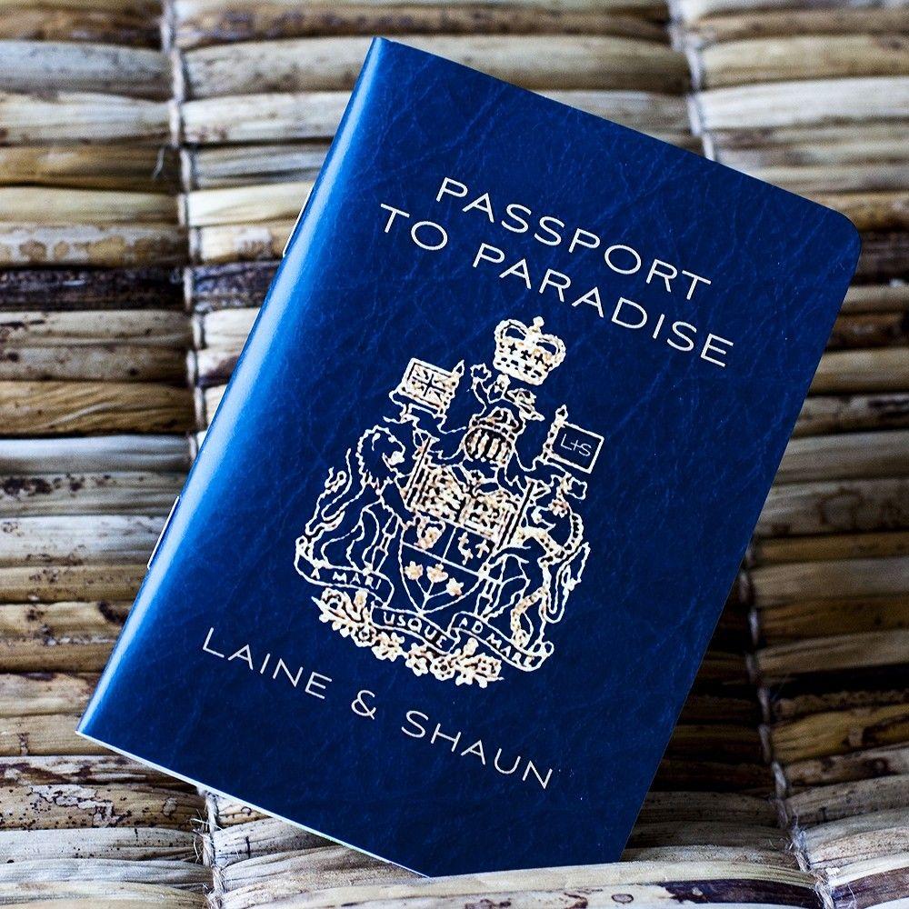 Passport Wedding Invitation Design Fee (Canadian Traditional Emblem ...
