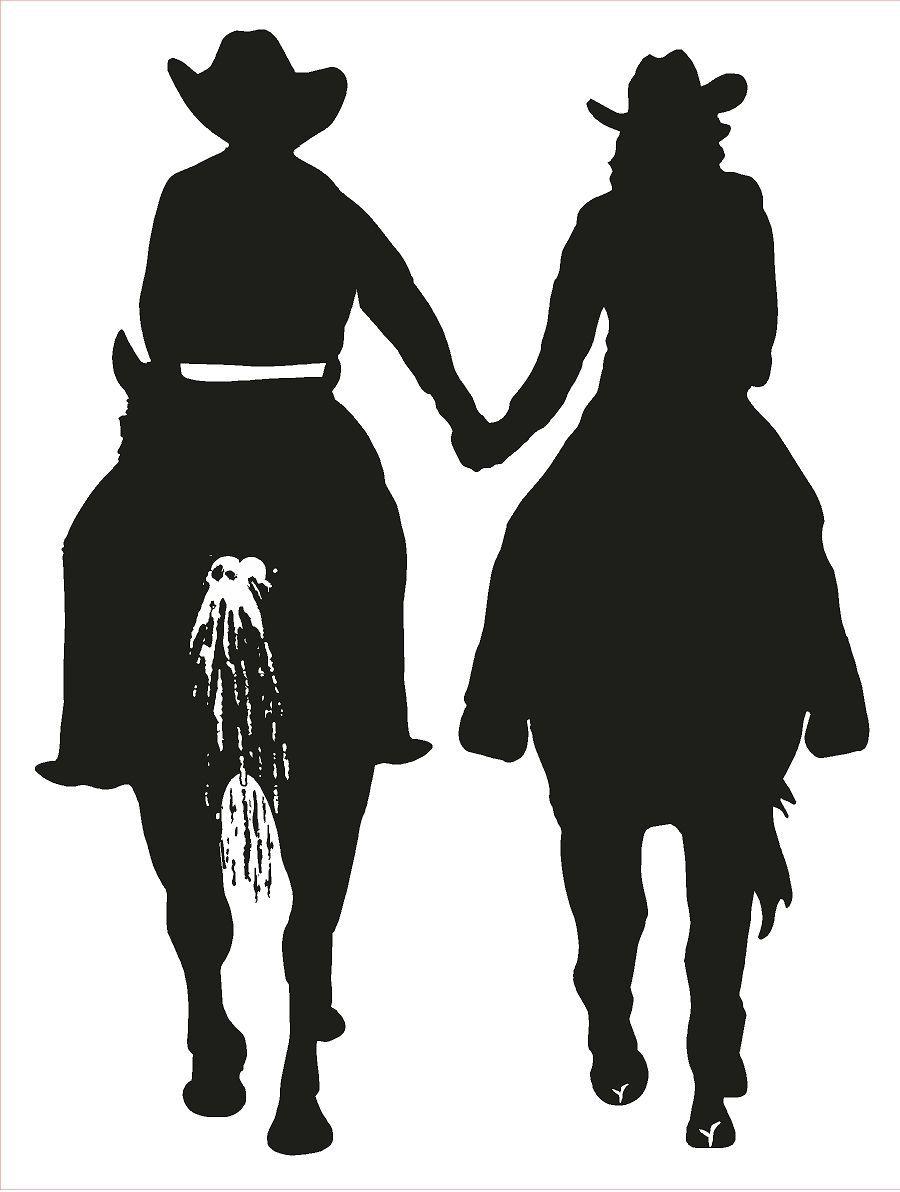 Cowboy profile silhouette clip art - photo#55