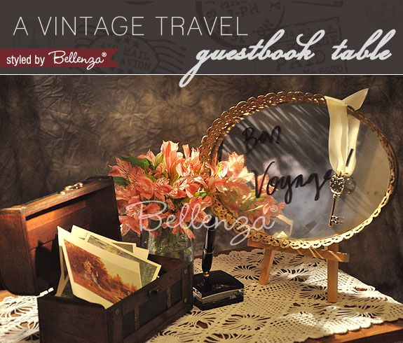 A Vintage Travel Themed Wedding Wishes/Guestbook Table | Styled by The Wedding Bistro at Bellenza.