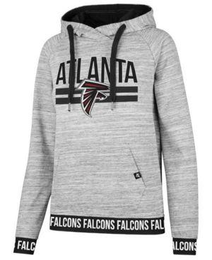 c613f0fb8b3 47 Brand Women's Atlanta Falcons Revolve Hooded Sweatshirt - Gray M ...
