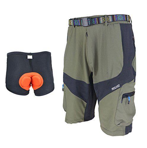 Herren Radfahren Bib Shorts MountainBike Bib Shorts COOLMAX Pad Fahrrad Shorts