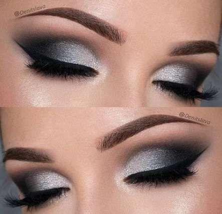 Eye Makeup Silver Black Night 64+ Ideas #makeup #eye #EyeMakeupSimple