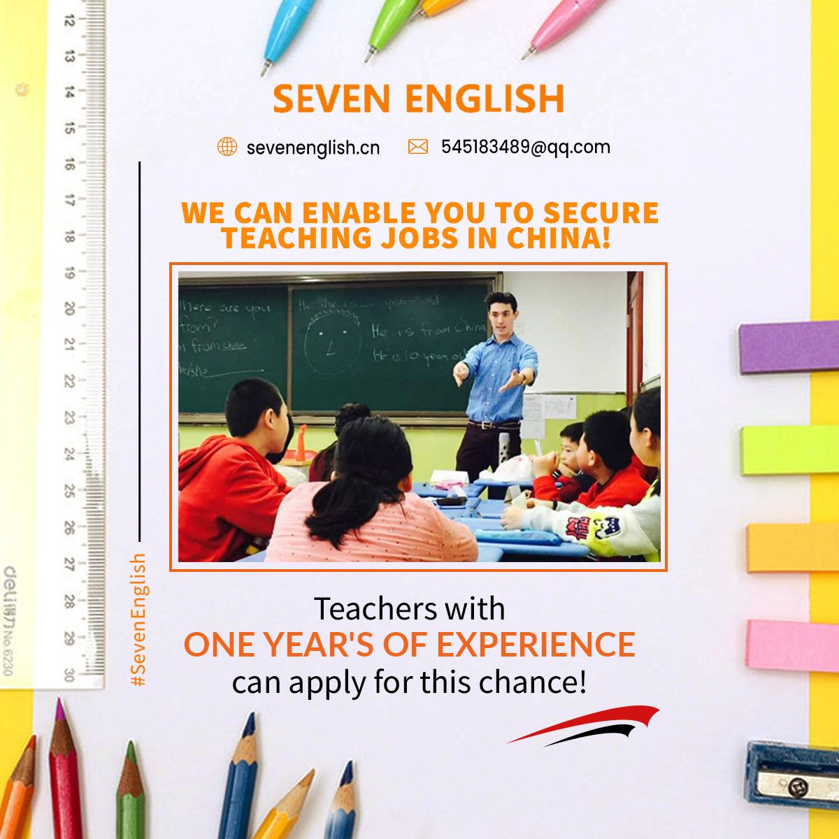 Do you ever consider teaching English as a career? We can