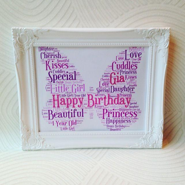 1st Birthday Gift Girls Present Gifts Customised 2500