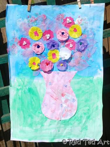 Kids Crafts Flower Collage Activities For Kids Flower Collage