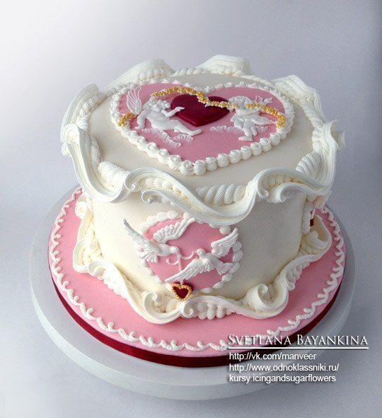 Valentine's themed Lambeth cake