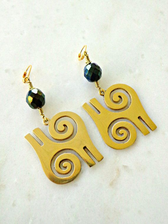 symbol egyptian accessories ankh earrings