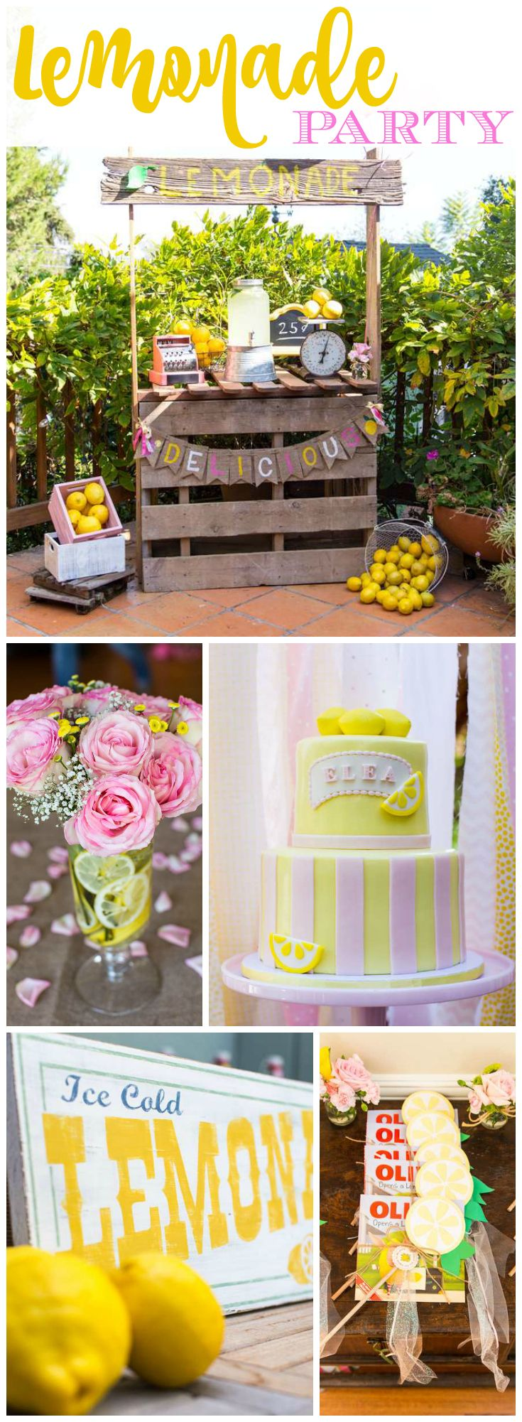 How cute is this vintage lemonade stand party?!  See more party ideas at CatchMyParty.com! #lemonade