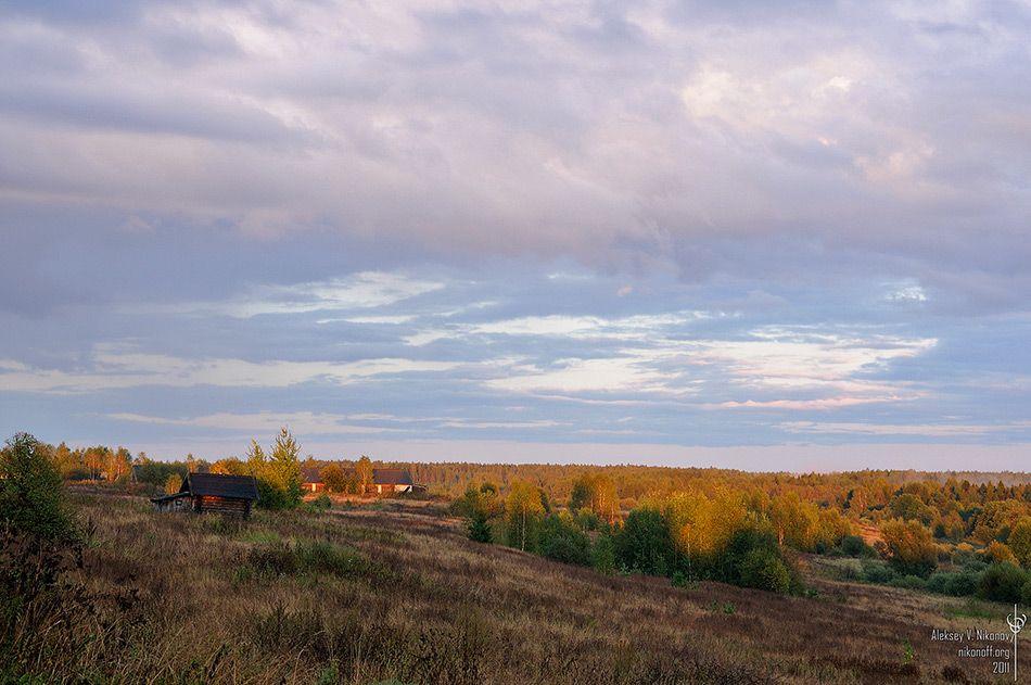 Sun, autumn sky