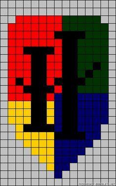 Harry Potter Perler Bead Pattern To Use For Crochet Pixel Blanket.