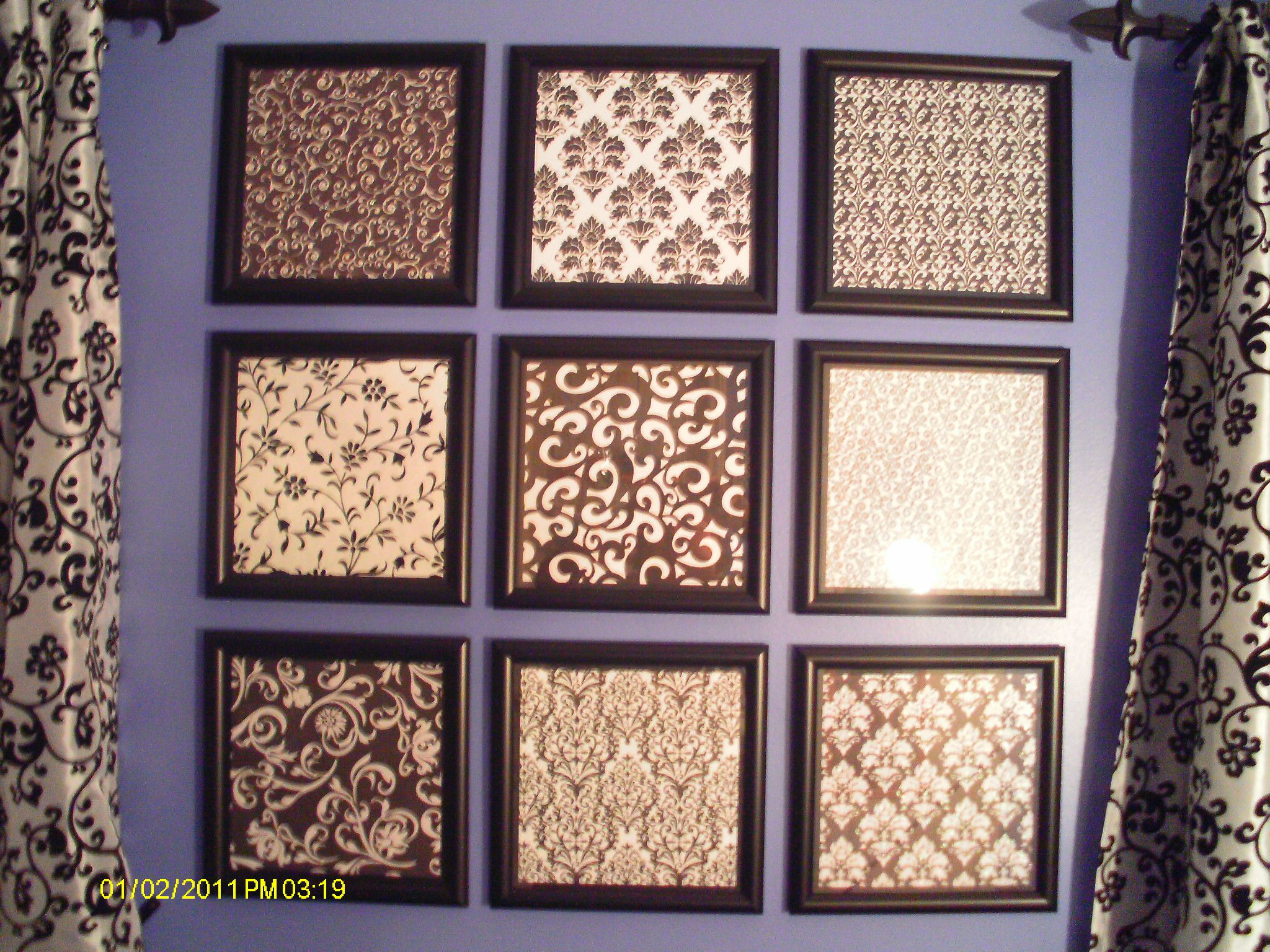 Interesting Way To Fill Up Wall Space  Inexpensive Frames