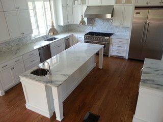 Elm Street Concord Ma Modern Kitchen Countertops Boston By Absolute Modern Kitchen Countertops Kitchen Countertop Options White Marble Kitchen Modern