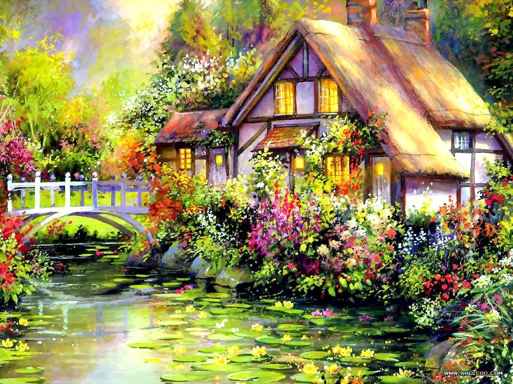 House painting art looking for professional house painting for Oil paintings for the home